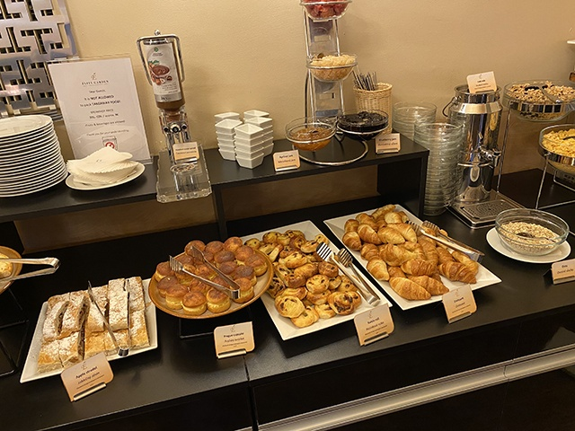 The Breakfast Buffet With A Great Selection Of Food