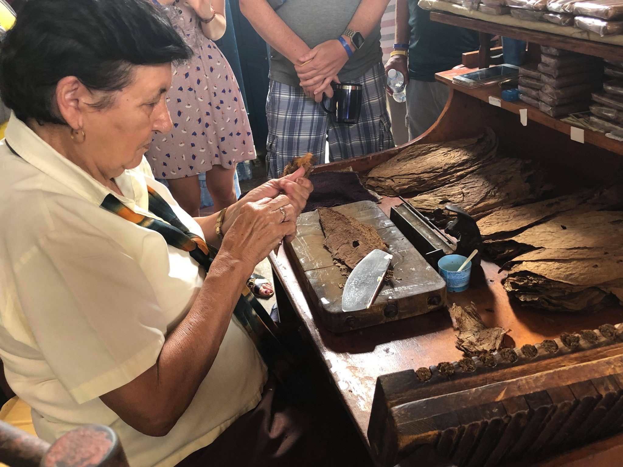 Cigar Rolling Demonstration, Trinidad