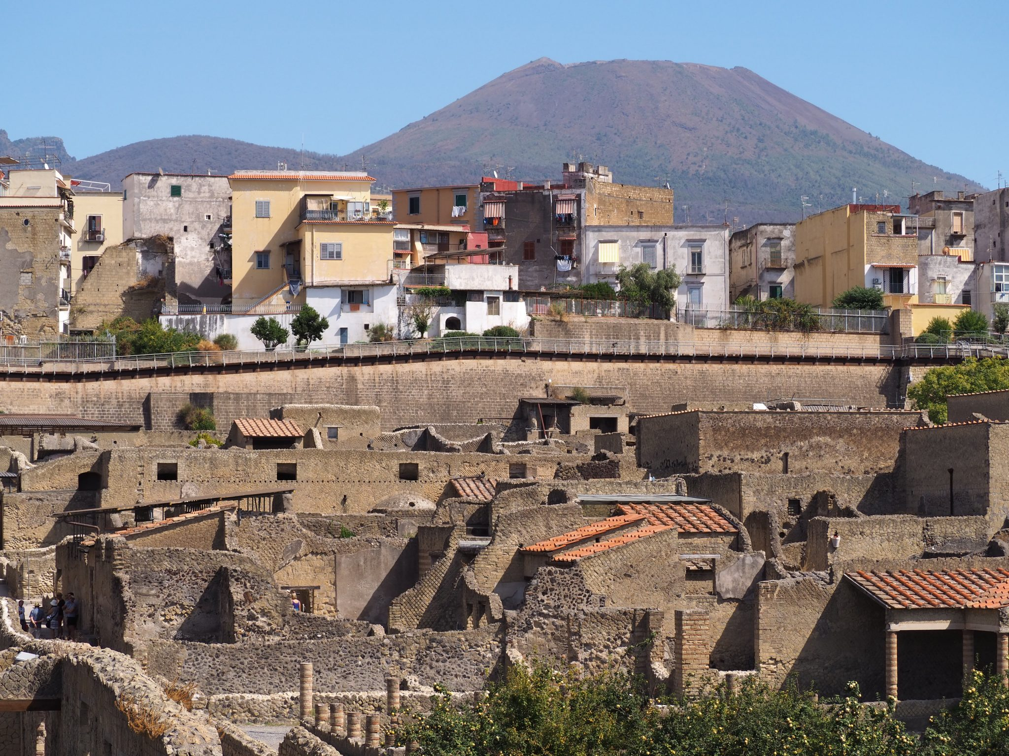 One Volcano, Two Towns, Old Meets New