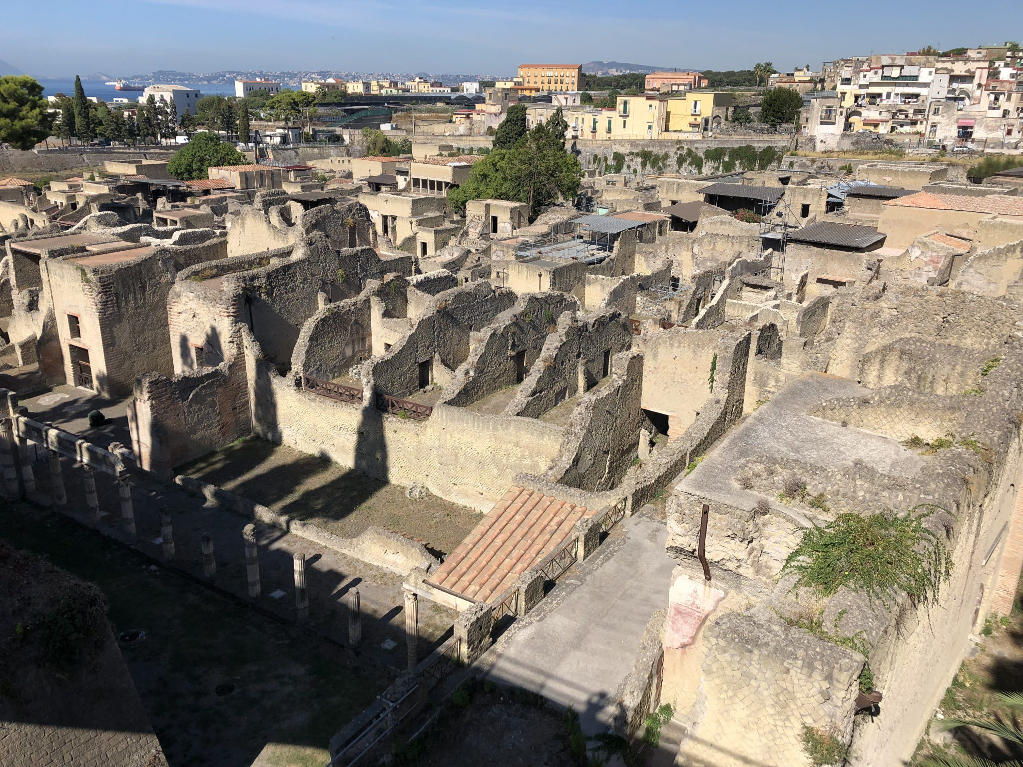 View Over The Ancient Roman Town Of Herculaneum