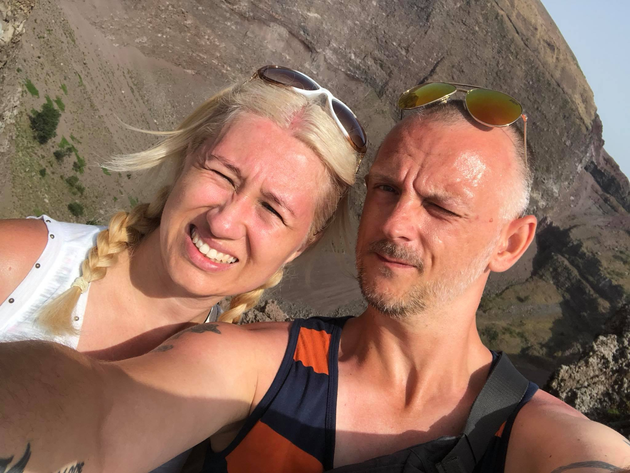 Jason & Vicky, At The Top Of Mount Vesuvius