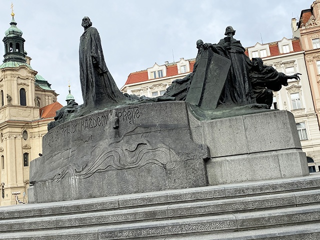 Old Town Square, Jan Hus Monument.