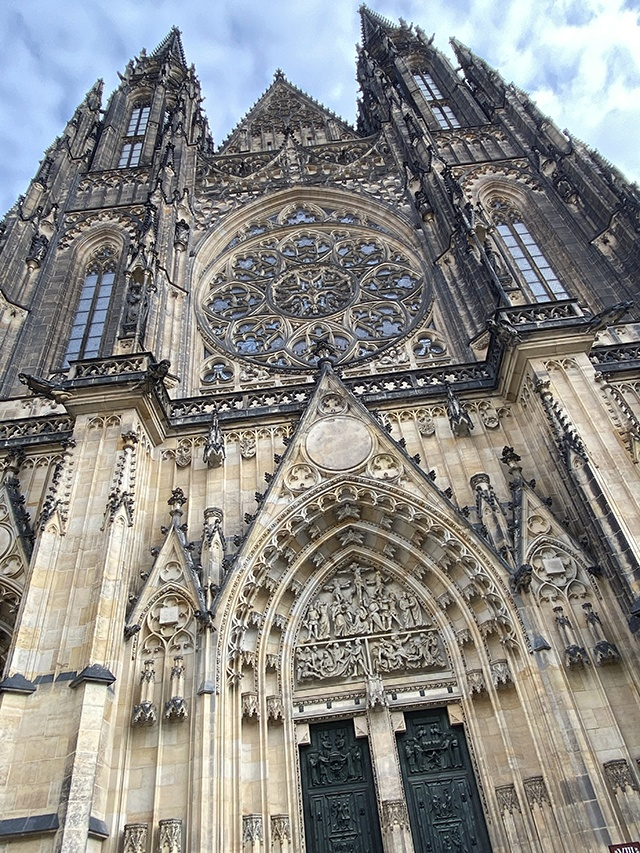 A beautiful example of Gothic architecture, St Vitus Cathedral, Prague.