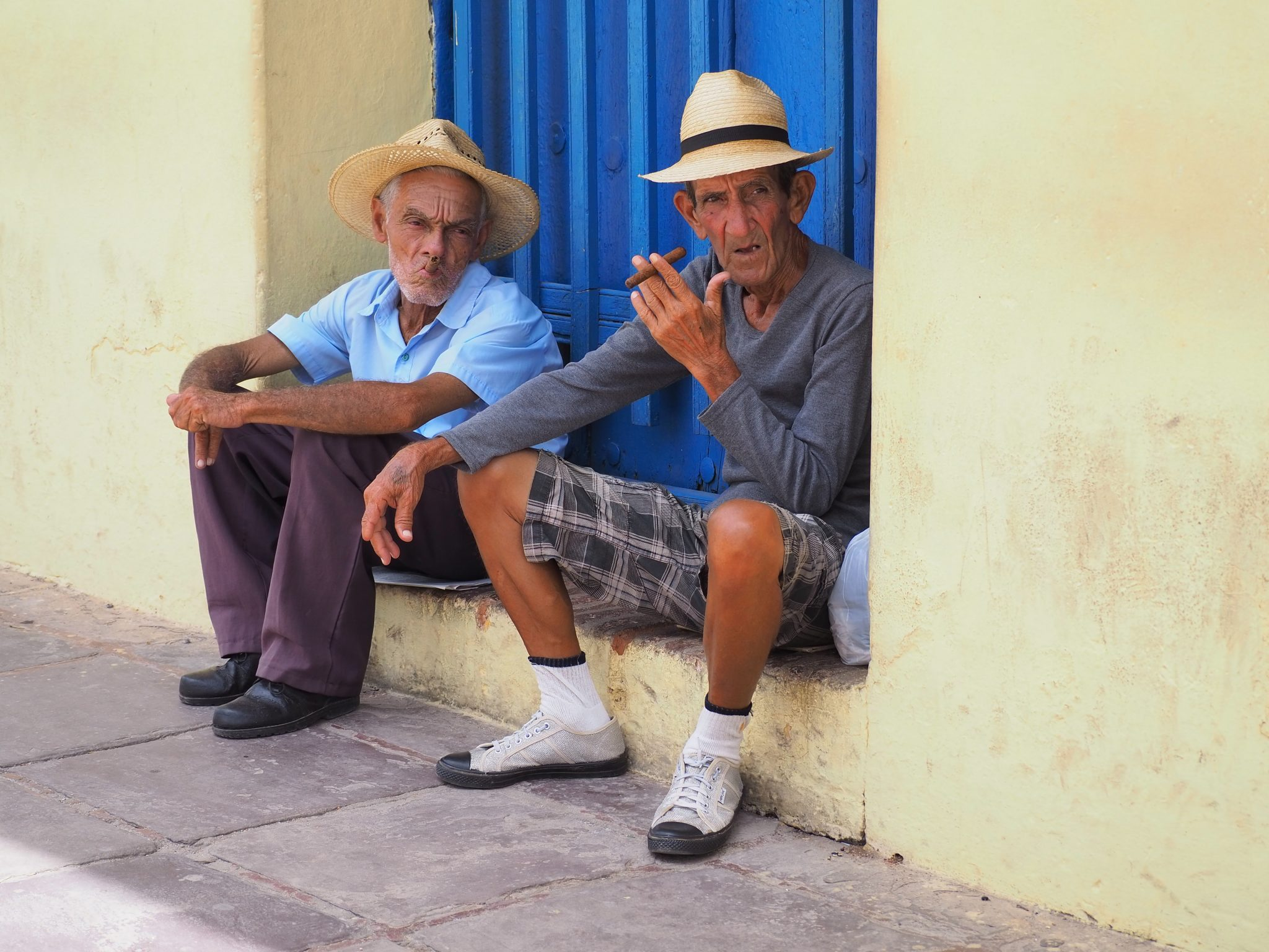The locals of Trinidad watching the world go by.