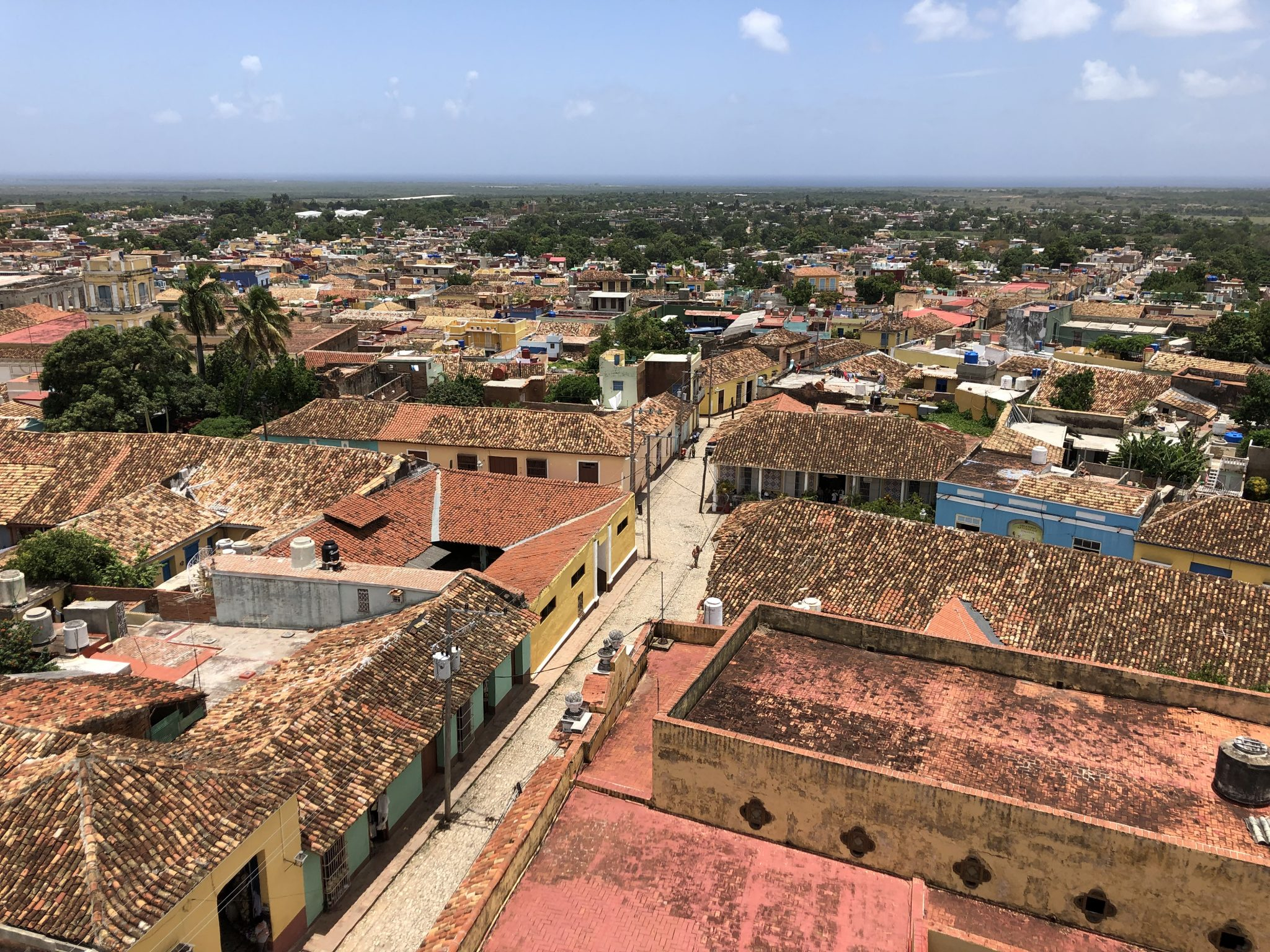 The beautifully tiled rooftops of Trinidad, Cuba.
