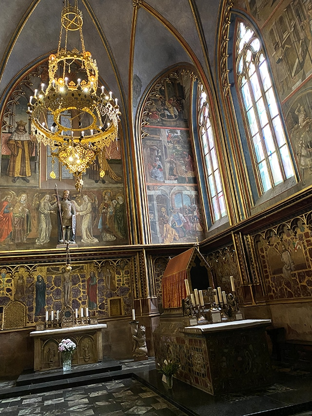 The beautiful St Wenceslas Chapel, St Vitas Cathedral.